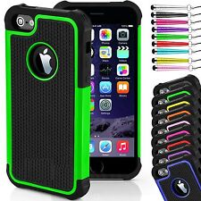 New ShockProof Hard Back Silicone Rubber Cover case for iPhone 4/4S, 5/5S & 6/6S