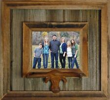 NEW RUSTIC FARMHOUSE TEXAS LONGHORN BARNWOOD PICTURE PHOTO CANVAS FRAME DECOR