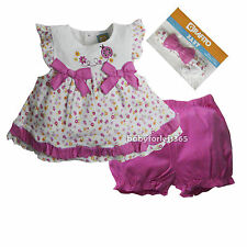 NWT Grafito Baby Girls 3 pc set Outfit Shirt Shorts Headband Size 6 12 18 Months
