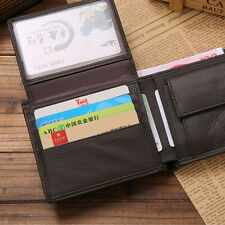 1*Euro Style coin wallets designer genuine leather wallet with Flip-Up ID Window
