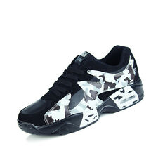 Mens Walking Running Training Athletic Fashion Sneakers Casual Black Sport Shoes