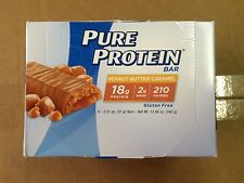 36 BARS PURE PROTEIN PEANUT BUTTER CARAMEL BARS - BEST BY DATE IS 3/10/2017