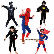 Costume Kids Boys Girls Fancy Dress Halloween Costumes Superhero Outfit 3-7Y