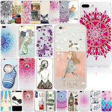 For Apple iPhone 6s 7 Plus Cute Pattern Slim Soft TPU Case Protective Cover Skin