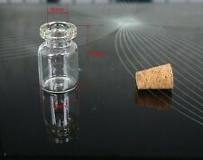 Wholesale small clear glass vials with cork tops 0.5ml bottles Little empty jars