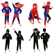 Kids Boy Girl Superhero Carnival Costume Fancy Party Dress Outfit Clothes Set