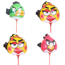 20pcs Angry Birds Balloons Foil Ballon with stick Kids Toys for Birthday Party