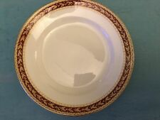 SAMPSON BRIDGWOOD IRONSTONE RED AND GOLD LEAF DESIGN 8 INCH 20 CM PLATE