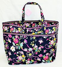 Vera Bradley RIBBONS Pink Purple Floral Grand Tote *US FAST SHIP*