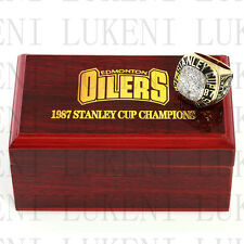 1987 EDMONTON OILERS Stanley Cup Hockey Championship Solid Ring 10-13Size