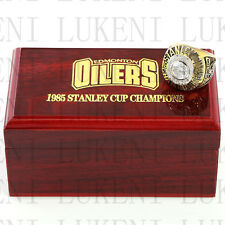 1985 EDMONTON OILERS Stanley Cup Hockey Championship Solid Ring 10-13Size