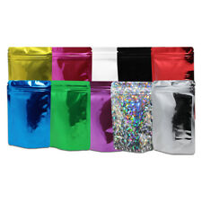 Many Colors for 100X Stand Up Aluminum Foil Pouches Mylar Zip Lock Bags 8.5x13cm