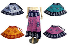 Apparels India 5Pcs-100pcs Batik Cotton USA Boho Wrap Around Skirt Wholesale Lot