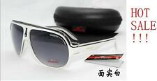 New Fashion Men & Women's Retro Sunglasses Unisex Matte Frame Carrera Glasses +