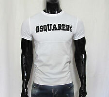 New Dsquared2 *BLACK OR WHITE* Slim Fit 100% Cotton Men's T-shirt Made in Italy