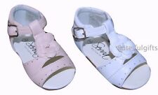 Infant Girls Spanish Sandal Shoe White Pink UK Infant 3-8 *1 Supplied CHECK SIZE