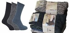3,6 pairs mens WOOL Chunky boot socks hiking THERMAL WARMTH winter work