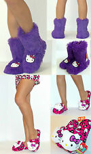 2 pairs NWT Hello Kitty Shag Slipper Boots & Pillow Head Slippers,7/8