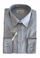 Modena New Men's Point Collar Poly Cotton Dress Shirt M300CLR