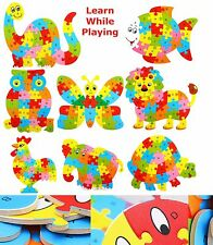Alphabet ABC Wooden Jigsaw Children Baby Learning Educational Puzzle Animal Toy