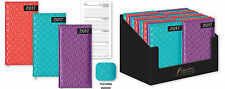 2017 Pocket/Slimline Week to View WTV Bright Textured Padded Fabric Pocket Diary