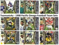 1998 Pacific Omega Football Set ** Pick Your Team **