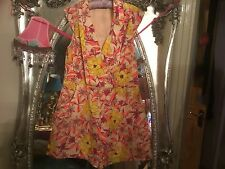 oasis size 16 play suite SMART summer holidays new  yellow peach cream