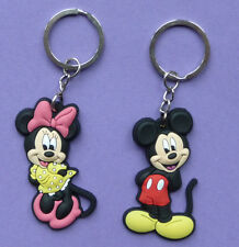 MINNIE MOUSE MICKEY MOUSE KEY RING Keychain Party bag filler NEW