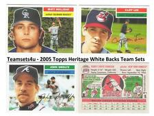 2005 Topps Heritage White Backs Baseball Set ** Pick Your Team **