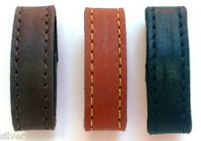 "Two 1/2"" Wide Genuine Leather Replacement Belt Keeper Loops 8 Colors /  5 Sizes"