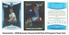 2008 Bowman Chrome Draft Picks & Prospects Baseball Set ** Pick your Team **