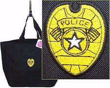 Gold Police Badge Law Enforcement Officer Essential Tote Custom Embroidered NWT