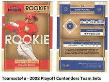 2008 Playoff Contenders Baseball Set ** Pick Your Team **
