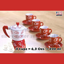 Coffee Espresso Maker wh Cups set Cafetera Cubana Red valentine's day Gift