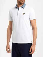 Lyle And Scott Mens Woven Collar Polo SP607V-White