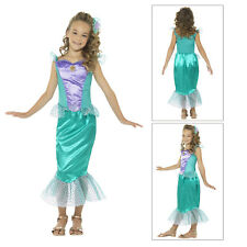 Smiffys Kids Deluxe Mermaid Fancy Dress Costume Girls New World Book Day Outfit