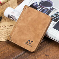 New Men PU Leather ID credit Card holder Coin Purse Wallet Pockets Hotsell !