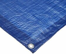 Blue Poly Tarp Cover, Water Proof Tent Shelter Camping RV Boat Tarpaulin