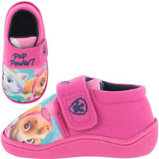 Paw Patrol Camille Skye & Everest Girls Kids Slippers - Pink (Size 5,6,7,8,9,10)