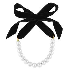 WOMEN BOWKNOT FAUX PEARL CLAVICLE CHAIN COLLAR CHOKER NECKLACE JEWELRY SPECIAL