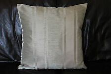 Cushion cover Handmade Pale olive sage green & silver taupe stripes