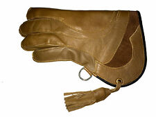 New Falconry Glove Quadruple Skinned Nubuck Leather 11 Inches Long 4 Layers