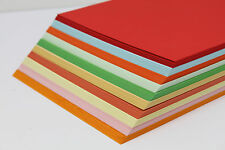 A5 OR A4 SMOOTH ASSORTED 160gsm COLOURED CARD. 250 SHEETS INKJET & LASER PRINTER