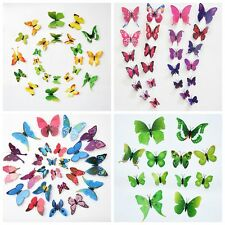 3D View Cute Butterfly Art Decor Decal Wall Stickers Home Decorations Stickers