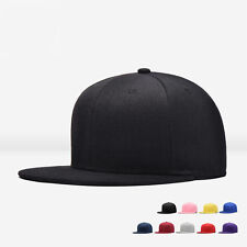 Unisex Men Blank Plain Snapback Hats Hip-Hop Adjustable Bboy Baseball Cap Sunhat