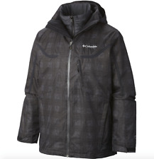 COLUMBIA Mens LT (LARGE TALL) Whirlibird Interchange Jacket Coat Black Plaid