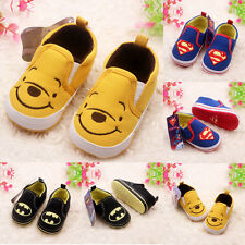 Infant Toddler Baby Kids Boy Girl Sole Crib Shoes Sneaker Newborn Cute Prewalker