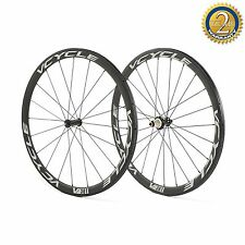 VCYCLE 700C Carbon Wheels 38mm Carbon Bike tubular Wheels Bicycle Wheelset