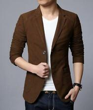 Stylish Mens Casual Slim Suit Jacket Two Button Fit Blazers Business Dress Coats