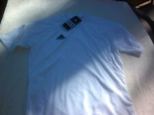 NWT Adidas climacool youth T, white, v neck, youth XL, polyester